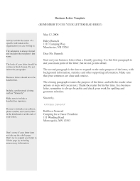 Free Business Letter Template Format Sample Get Calendar Templates
