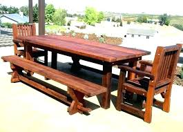 outdoor wood picnic table plans long wooden dining large garden furniture patio faux tables image of