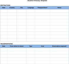 Sample Itinerary Forms 6 Sample Blank Itinerary Templates Free Download