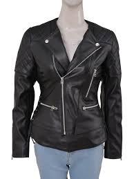 women chic style leather jacket women sleek black leather jacket