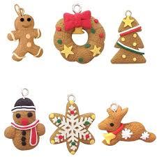 details about gingerbread man ornaments deer snowman tree pendant decoration decorations outdoor