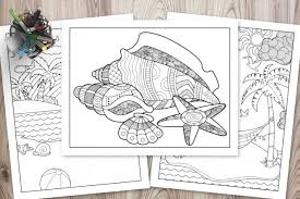Share your coloring experience at coloringfaith.com! Free Printable Beach Coloring Pages The Artisan Life