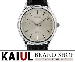 grand seiko quartz watch sbgs001 ss silver leather men watch a rank
