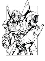 Transformers Coloring Pages Transformers Bumblebee Transformer