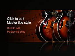 Music Powerpoint Template Free Music Guitar Ppt Template