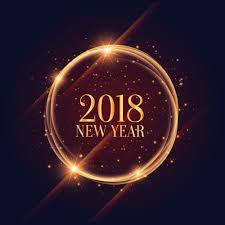 shiny 2018 new year frame with sparkles background free vector art stock graphics images