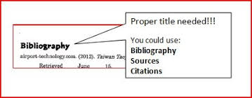 Proper Bibliography Bibliography Skills And A Sample Mr Fleming