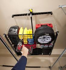 overhead garage storage lift. Racor Pro HeavyLift CableLifted Storage Rack Ceiling Mounted General Purpose Racks Amazoncom With Overhead Garage Lift
