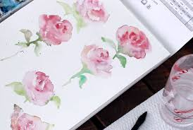 watercolor may flowers rose edition