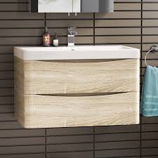 Light Oak Bathroom Furniture Modelk30 600mm Denver Ii Gloss Grey Built In Basin Drawer Unit