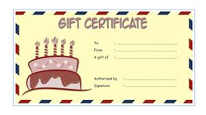 microsoft word birthday coupon template birthday gift certificate templates the best template collection