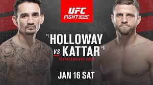 Max Holloway vs Calvin Kattar set for ...