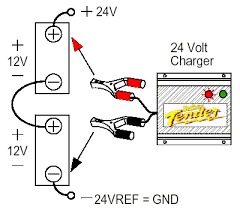 connecting batteries & chargers in series & parallel deltran How To Hook Up Two Batteries In A Boat Diagram figure 8 two batteries in series, one charger