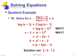 solve for x in log math math exercises math problems logarithmic equations and inequalities solving logs