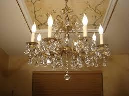 beautiful old brass bronze crystal double pineapple chandelier
