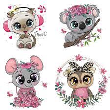 Lovely Animals Koala <b>unicorn Iron on</b> Transfers Patch For Baby ...