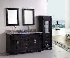 bathroom side cabinets. 78 Inch White Double Sink Bathroom Vanity With Single Wide Bold Framed Mirror Design Side Cabinets L