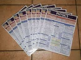 Quick Study Charts Physics Quick Study Bar Charts Inc Binder Fold Out
