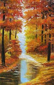 print on canvas painting canadian autumn landscape sunny fall trees maple park colorful red orange decorpro art by marca home decor wall