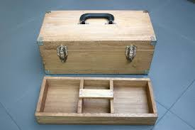 picture of functional and sy wooden toolbox