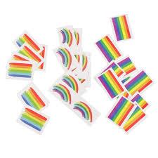 30 шт различных гей водонепроницаемый радужный флаг стикер S