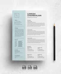 Modern Cv Word Creative Resume Template For Word Free Cover Letter Social Icons