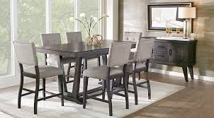 alluring hill creek black 5 pc counter height dining room on table set