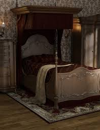 victorian bed furniture. Relax In Elegance And Style With This Beautifully Detailed Victorian Bedroom Furniture. The Set Includes Half Tester Bed Along Pillows,blanket, Furniture