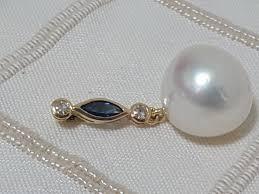 12 13 mm slightly baroque australian south sea pearl pendant