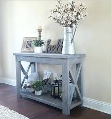 Used home decor Items Accent Table Decorating Ideas Modified Whites Rustic Console Table And Used Classic Gray Stain Our The Mercury News Accent Table Decorating Ideas Modified Whites Rustic Console Table