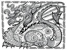 Dragon Coloring Sheets For Adults Christmas Worksheet Printables