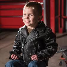 interstate leather kids black leather motorcycle jacket
