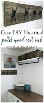 Diy Wood Coat Rack Easy DIY Nautical Pallet Wood Coat Rack simple project Artsy 61
