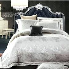 style white jacquard silk cotton bedding sets queen king throughout luxury comforter idea luxurious