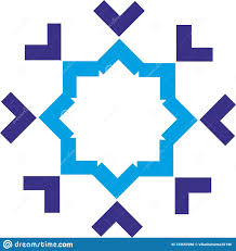 Geometric Shapes For Design Geometric Shape Design With Dark Blue And Blue Colour