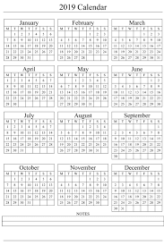 There are 51 design options to choose from in both sunday and monday starts. 2019 Yearly Calendar Printable Templates Holidays Pdf Word Excel Calendar Hour 2020 Printable Calendar