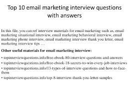 Common Marketing Interview Questions Email Marketing Interview Questions And Answers Solo Ads