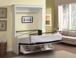 white murphy bed with desk