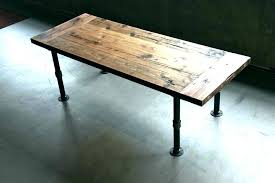 pipe coffee table astonishing pipe coffee table iron desk legs industrial harvest tables west coast wood pipe coffee table