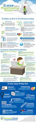 17 best ideas about essay writing essay writing the 10 step guide to proofreading essays quickly infographic