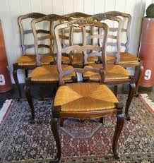 french dining chairs. Antique French Dining Chairs Rush Seats Basket Carved Ladder Back Stretchers