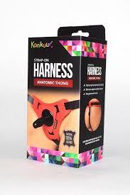 Красно-черные <b>трусики</b> с плугом <b>Kanikule Strap-on</b> Harness ...