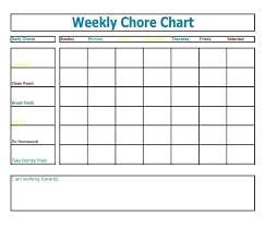 Daily Chores Checklist Little Kid Chore Chart Daily Chores Template Printable Charts