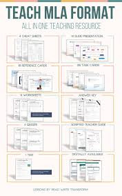 Mla Format Bundle Worksheets Presentation Task Cards Cheat