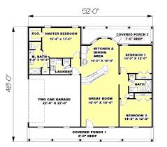 Traditional Style House Plan 3 Beds 2 00 Baths 1245 Sqft Simple