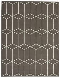 grey homemaker blocks geometric rug