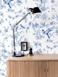 Behang Birds Blossom Blauw 974 X 280 Cm Kek Amsterdam