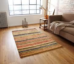 hemp stripe rug mutli  free uk delivery  terrys fabrics