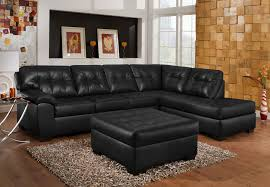 simmons soho onyx showtime breathable leather chaise sofa sectional