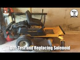 diy mower will not crank diagnose and replace faulty solenoid cub diy mower will not crank diagnose and replace faulty solenoid cub cadet rzt